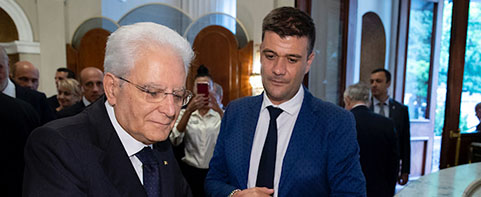 The President Of The Italian Republic, Mr.  Mattarella, Guest Of The Yerevan Grand Hotel