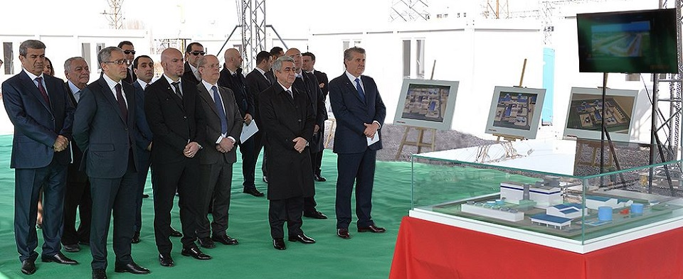 Project presentation ceremony of the new 250 mw power plant in Yerevan